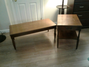 Solid wood coffee and end table