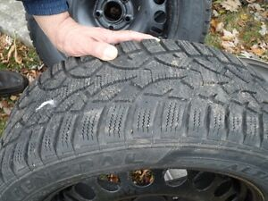 winter tires on rims West Island Greater Montréal image 3