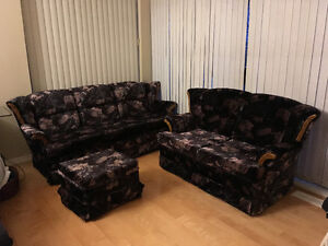 Free 3 seats sofa and love seat