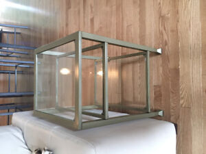 2 Metal/Glass End Tables