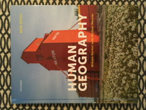 Human Geography Textbook (2018) for McMaster 1HB3