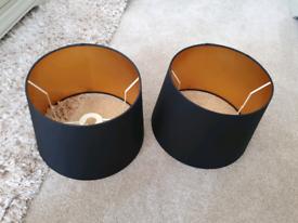Laura ashley Black drum shades