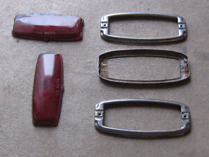 1947 , 1948  1946 Chevy taillight bezels and Glass lenses ,