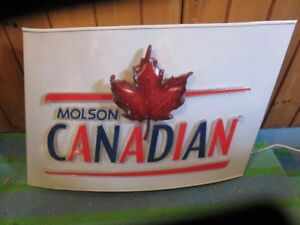 1 LARGE MOLSON CANADIAN BAR SIGN WORKING NOT A RETAIL ITEM ONLY