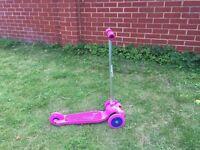 Girls purple scooter