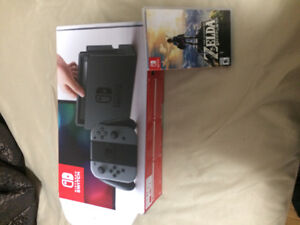 Nintendo switch console + Breath of the Wild game