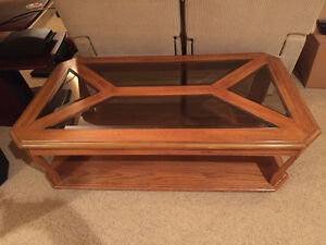 Coffee table Wood and glass