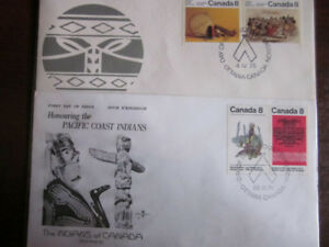 """12 FIRST DAY OF ISSUE CANADIAN COVERS  """" INDIAN """" STAMP ENVELOPE"""