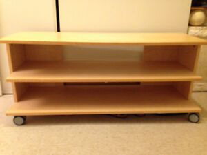 shelving unit with wheels