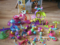 LARGE LOT LITTLEST PET SHOP BALLS HOUSES ETC