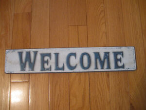 "STRONG STURDY ATTRACTIVE ""WELCOME"" DOOR SIGN"