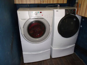 FRONT LOAD <<< WASHER and DRYER >>> with pedestals