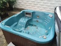 Large Balboa HOT TUB for sale with steps and cover