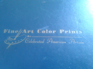 Book of art colored prints from 1945