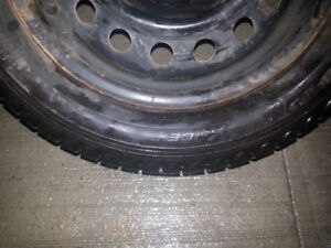 195/55/15 michelin x-ice 2 with steel rims
