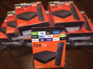 AMAZON FIRE TV BOX fully loaded Kodi 17.3  Brand New in BOX