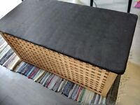 IKEA HOL TABLE - storage unit with black suede cover
