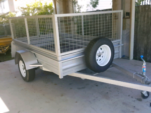 Trailer with Cage 8x5 for Hire