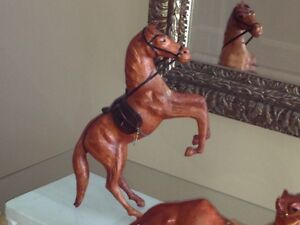 2 LEATHER CAMELS & 1 LEATHER HORSE - LIKE NEW! London Ontario image 3