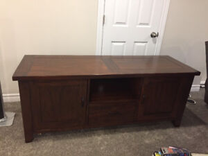 Solid Wood Entertainment Unit & End Tables
