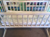 Mothercare Painted swing crib shabby chic