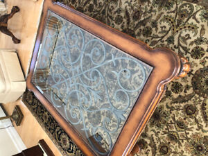 Ethan Allen Glass coffee table