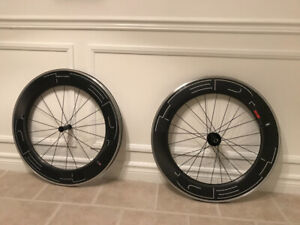 HED Jet 9 + carbon clincher wheels ZiPP ENVE CARBON