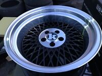 "16"" Klutch 5x100 alloy wheels Alloys Rims tyre tyres vw Volkswagen Seat Skoda Audi deep dish"