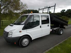 FORD TRANSIT 350 125PS CREWCAB TIPPER 12 REG 68,000 MILES