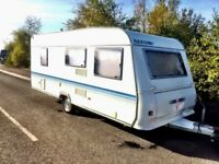 Adria Altea 502DK 2007 5 Berth Caravan with bunk bed with awning