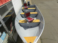 14FT LUND DEEP-V  BOAT!20HP JOHNSON!NEWTRAILER!$4995