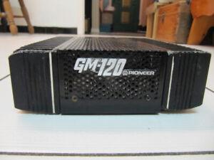 Classic Rare 1st Generation Pioneer GM-120 ComponentCarAmp 1980s