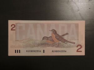 CANADIAN 2 DOLLAR BILLS