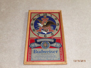 Budweiser Bar Clock & New Coors Beer Glasses (pickup only)