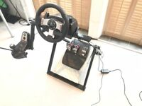 G27 Racing wheel, pedals, gear shifter and NextLevelRacing Stand