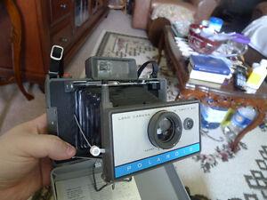Vintage Polaroid Automatic 210 and CR-9 Land Camera