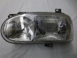 Volkswagen MK3 Headlight Golf & Cabriolet OEM Hella, Glass