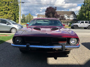 1974 Cuda,matching numbers,4 speed, pistol grip, good condition