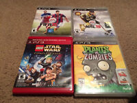 PS3 games, NHL 15, FIFA 15, Plants vs Zombies and LEGO Star Wars