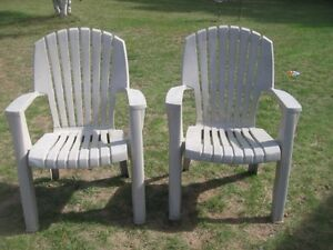 "2 ""GOOD"" STURDY OUTDOOR CHAIRS!!!"