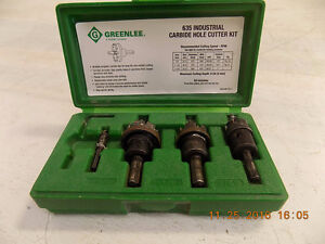 Electrician's Greenlee Carbide Hole Cutter Set
