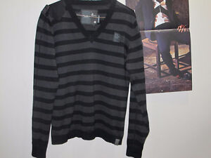 Mens Name Brand Designer G star Sweater L but fits smaller