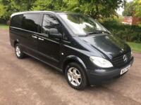 2007 57 MERSEDES-BENZ VITO 2.1 111 CDI LONG DUEL-LINER 6 SPEED 6 SEATER PX-SWAPS