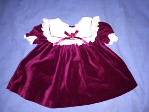 Baby Holiday Christmas Dress Size 12mts EUC