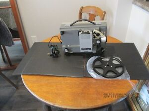 + Vintage 8 mm Projector + with Portable Viewing Screen +