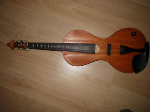 Violin. Handmade electric with frets and geared tuners.