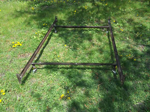 "Excellent Condition: Adjustable Metal Bed Frame, 49""W to 76.5""W"