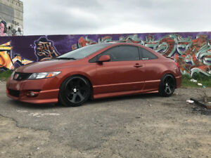Honda Civic Si orange tres rare