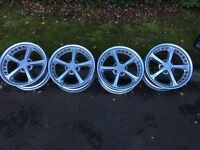 BMW schnitzer 18 inch alloys. From Z4 but should also fit 3 and 5 series