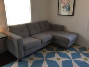 EQ3  - Solo - Sectional Couch Grey
